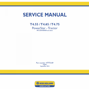 New Holland T4.55, T4.65, T4.75 Tractor Service Manual