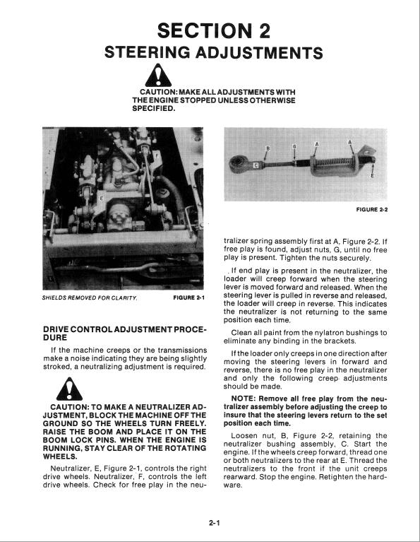 New Holland L781, L784, L785 Skidsteer Loader Service Manual