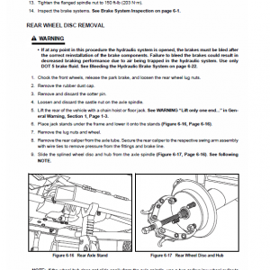 New Holland 120, 125 Rustler Service Manual