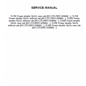 New Holland Tl75, Tl85, Tl95 Tractor Service Manual