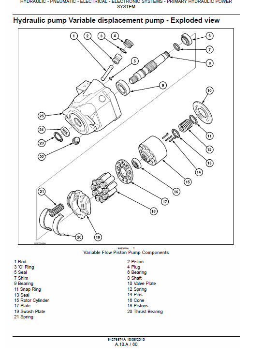 New Holland T6010, T6020, T6030 Tractor Service Manual