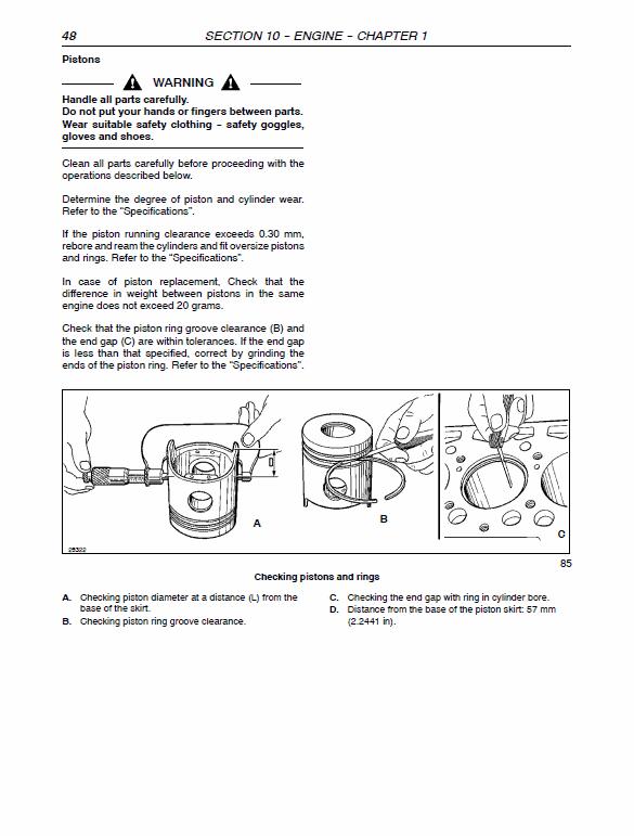 New Holland Tn60da, Tn70da, Tn75da, Tn85da, Tn95da Tractor Manual