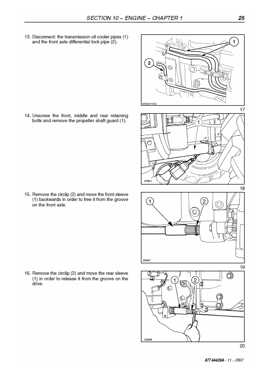 New Holland T4040, T4050 Tractor Service Manual