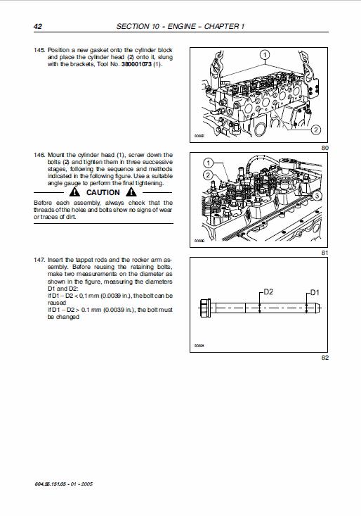 New Holland Ts125a, Ts130a, Ts135a Tractor Service Manual