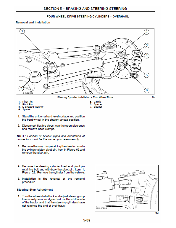 New Holland Ts90, Ts100, Ts110 Tractor Service Manual