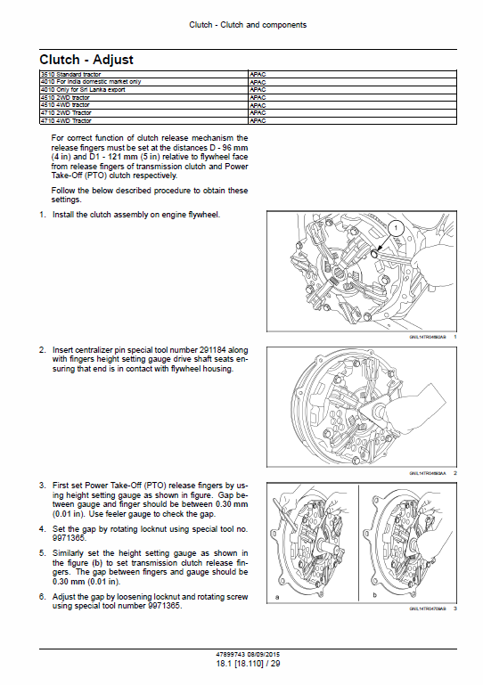 New Holland 3510, 4010, 4510, 4710 Tractor Service Manual