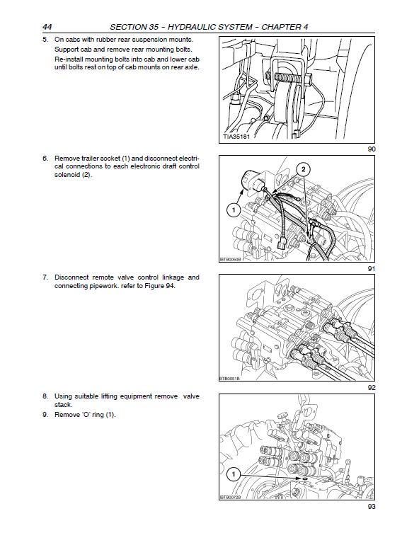 New Holland Tm120, Tm130, Tm140, Tm155, Tm175, Tm190 Tractors Manual