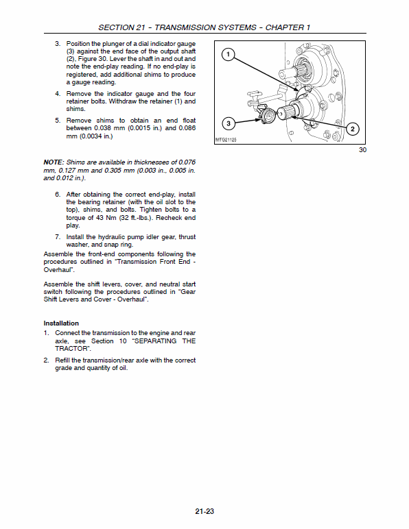 New Holland Tb100, Tb110, Tb120 Tractor Service Manual
