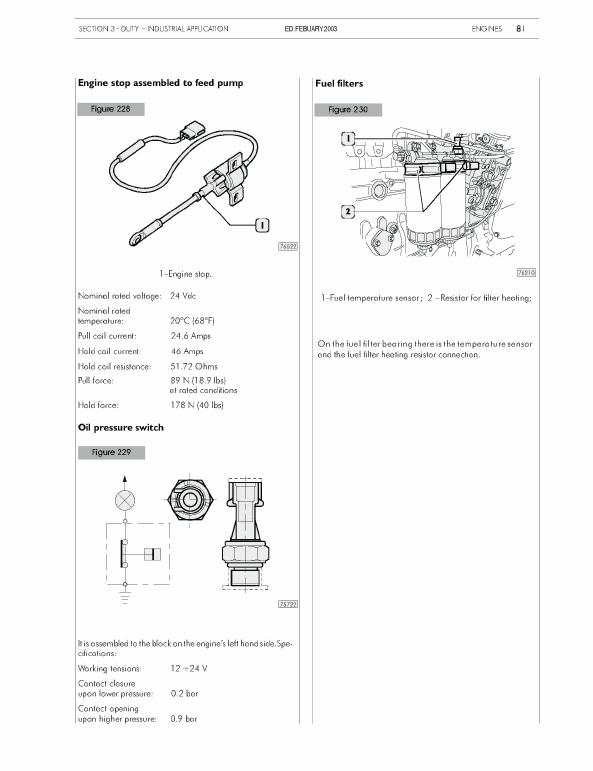 New Holland 445 M2, 445t M2, 668t M2 Engine Service Manual