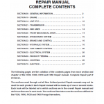 New Holland FX30, FX40, FX50, FX60 Forage Harvesters Service Manual