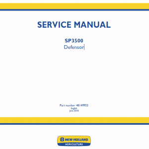 New Holland SP3500 Defensor Service Manual