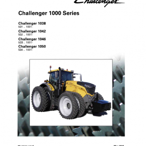 Challenger 1038, 1042, 1046, 1050 Tractor Workshop Manual