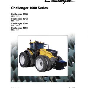 Challenger 1038, 1042, 1046, 1050 Tractor Workshop Manual