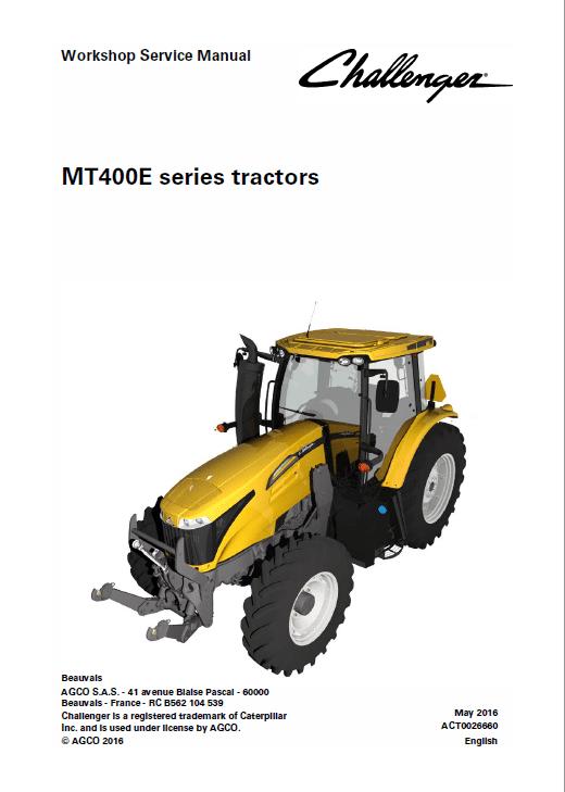 Challenger MT485E, MT495E Tractor Manual
