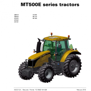 Challenger MT515E, MT525E, MT535E, MT545E Tractor Workshop Manual