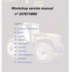 Challenger MT635B, MT645B, MT655B, MT665B Tractor Workshop Manual