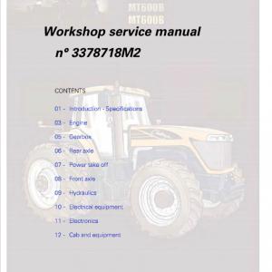 Challenger MT635B, MT645B, MT655B, MT665B Tractor Workshop Manual