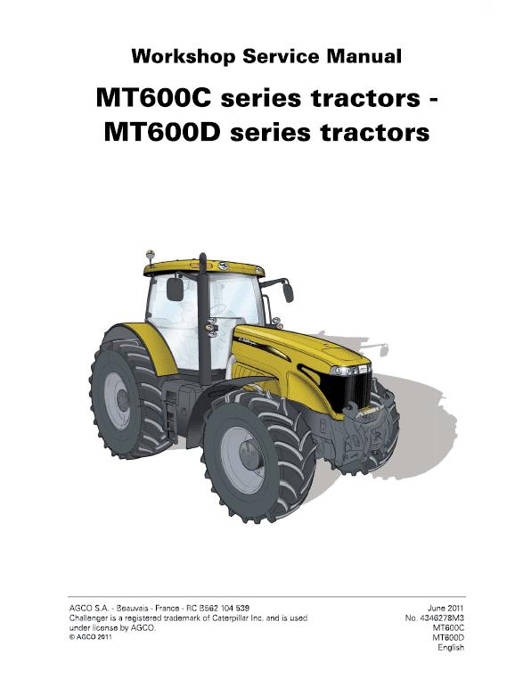 Challenger MT645C, MT655C, MT665C, MT675C, MT685C Tractor Workshop Manual