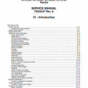 Challenger MT945B, MT955B, T965B, MT975B Tractor Workshop Manual