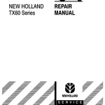 New Holland TX60 Combine Repair Manual