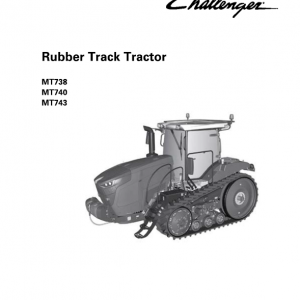 Challenger MT738, MT740, MT743 Tractor Service Manual