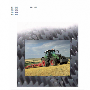 Fendt 924, 927, 930, 933, 936 Stage 3B Tier 4i Tractor Service Manual