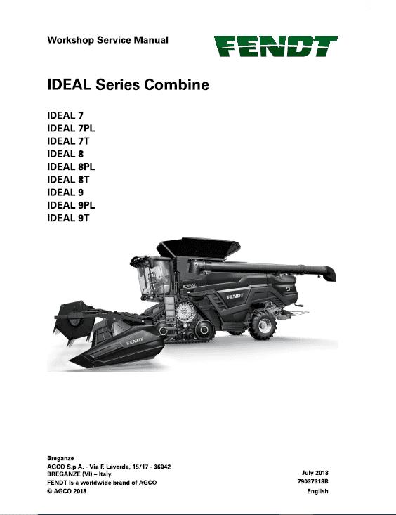 Fendt Ideal Combine Series Service Manual