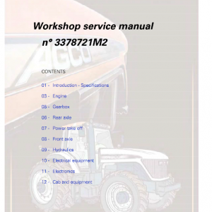 AGCO DT180A, DT200A, DT220A, DT240A Tractor Workshop Manual