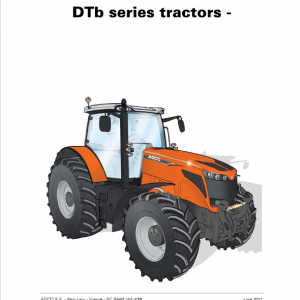 AGCO DT205B, DT225B, DT250B, DT275B, DT300B Tractor Manual