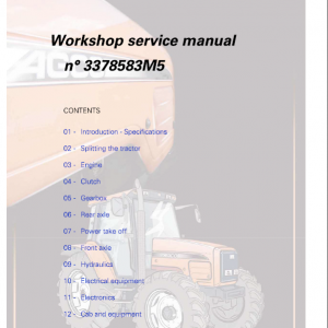 AGCO LT75, LT90 Tractor Manual