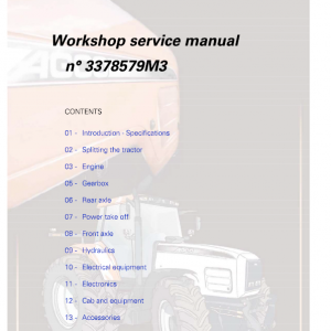 AGCO RT100, RT120, RT135, RT150 PowerMaxx CVT Service Manual