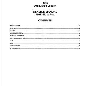 Willmar 4560 Wrangler Loader Service Manual