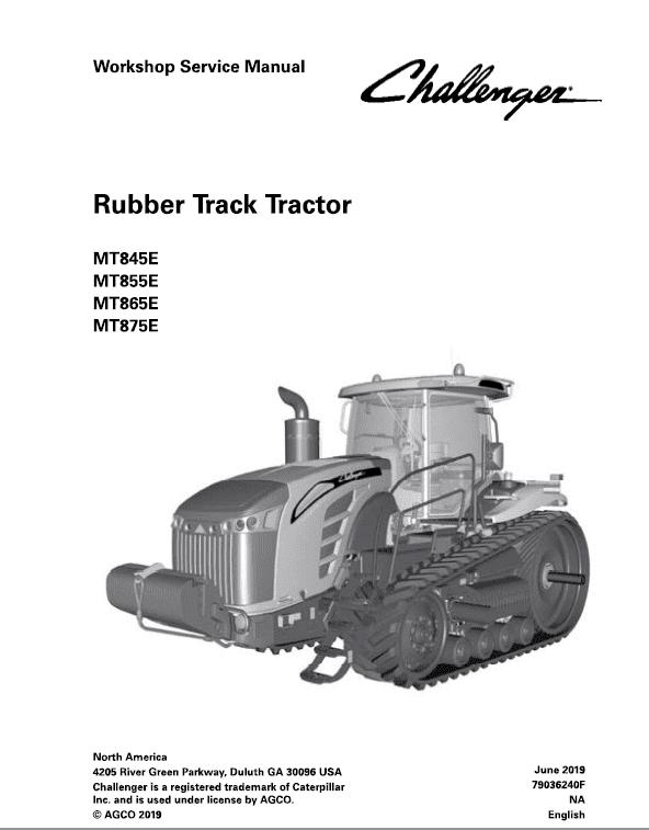 Challenger MT845E, MT855E, MT865E, MT875E Tractor Service Manual
