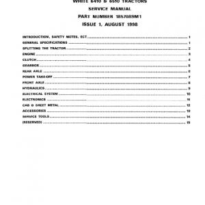 White 6410, 6510 Tractors Service Manual