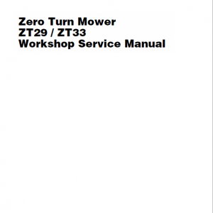 Massey Ferguson Z29, Z33 Mower Service Manual
