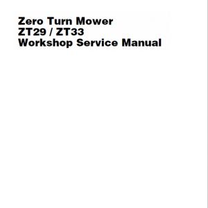 Massey Ferguson Z29, Z33 Mower Service Manual