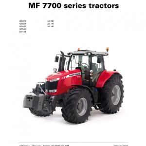 Massey Ferguson 7714, 7715, 7716, 7718 Tractor Service Manual