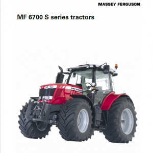 Massey Ferguson 6715S, 6716S, 6718S Tractor Service Manual