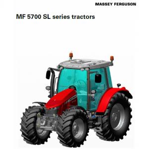 Massey Ferguson 5710 SL, 5711 SL, 5712 SL, 5713 SL Tractor Service Manual