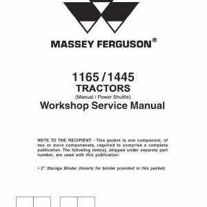 Massey Ferguson 1145, 1445 Tractor Service Manual