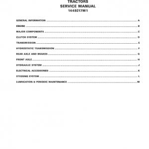 Massey Ferguson 1205, 1215, 1225 Tractor Service Manual