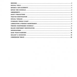 Massey Ferguson 1240, 1250, 1260 Tractor Service Manual