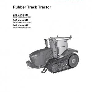 Fendt 938 Vario MT, 940 Vario MT, 943 Vario MT Tractor Service Manual