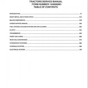 Massey Ferguson 1433V, 1440V Tractor Service Manual
