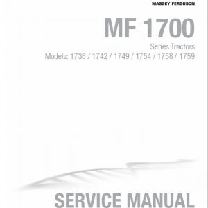 Massey Ferguson 1736, 1742, 1749, 1754, 1758, 1759 Tractor Manual