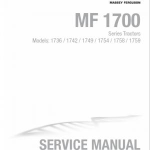 Massey Ferguson 1736, 1742, 1749, 1754, 1758, 1759 Tractor Manual