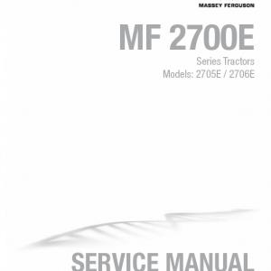 Massey Ferguson 2705E, 2706E Tractor Service Manual