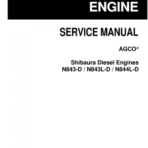 Shibaura Diesel Engines N843-D, N843L-D, N844L-D Manual
