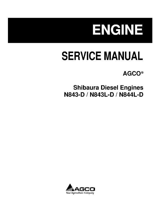 Shibaura Diesel Engines N843-D, N843L-D, N844L-D Manual
