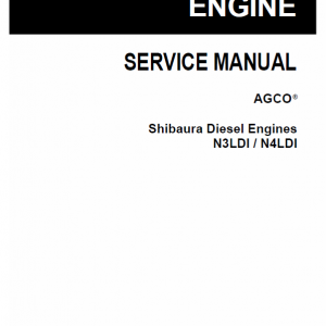 Shibaura Diesel Engines N3LDI and N4LDI Manuals